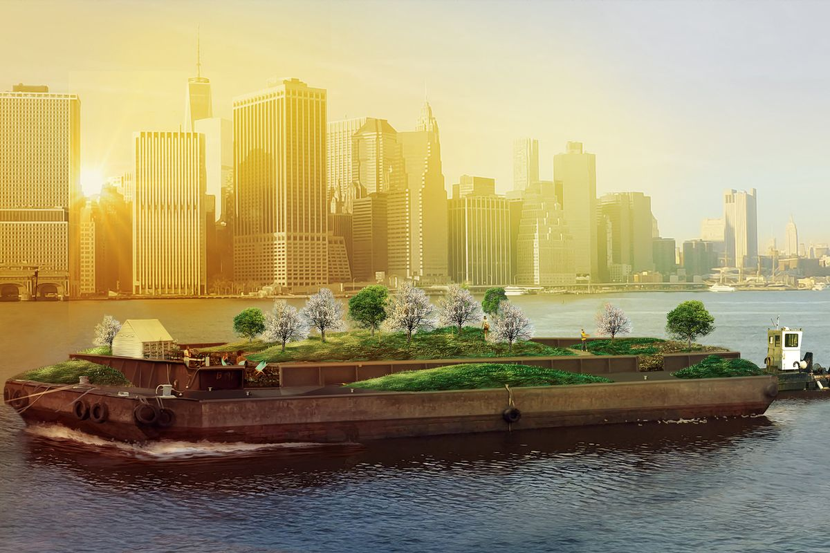 Self-sustaining floating farms hit in New York